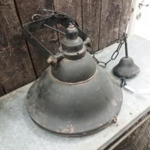 Taklampa - Antique Black - Med glas - 37 cm