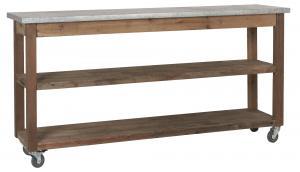 Avlastningsbord på hjul - Zinkskiva - 80 x 160 cm - www.frokenfraken.se