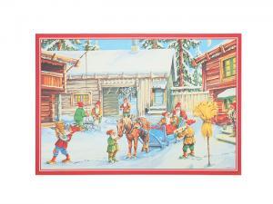 Julbonad - Tomtenissar i snön - 50 x 34 cm - www.frokenfraken.se