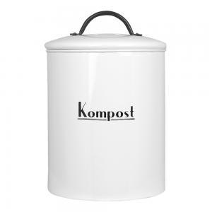 Plåtburk - Kompost - Ø17 x 25,5 cm - www.frokenfraken.se