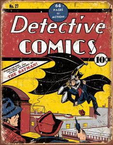 Detectives Comics NO27 - Retro Metallskylt - 32 x 41 cm - www.frokenfraken.se