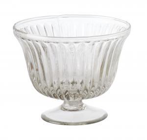 Skål - Glasskål på fot - 10 x Ø12 cm - www.frokenfraken.se