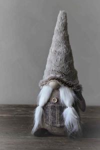 Tomte - Noelle Frosty - Beige - 31 cm - www.frokenfraken.se