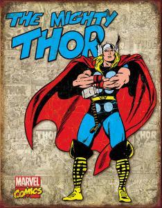 Thor - Retro Metallskylt - 32 x 41 cm - www.frokenfraken.se