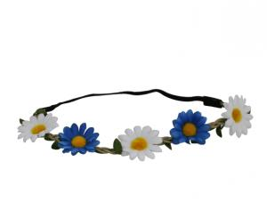 Hårband - blommor - Blå & Vit - Ø25 cm - www.frokenfraken.se