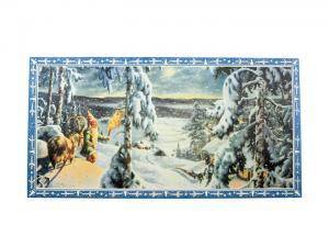 Julbonad - Tomte Med Fackla i Snön - 80 x 41 cm - www.frokenfraken.se