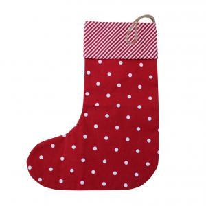 Julstrumpa - Röd med vita prickar - 45 x 35 cm - www.frokenfraken.se