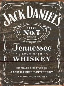 Jack Daniels - Retro Metallskylt - 32 x 41 cm - www.frokenfraken.se