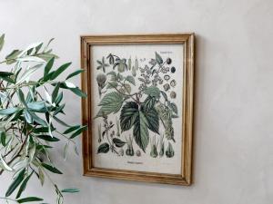 Tavla - Blomstermotiv - Med ram - 43 x 33 cm - www.frokenfraken.se