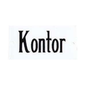 """Emaljskylt - """"Kontor""""- 4,5 x 9 cm - www.frokenfraken.se"""