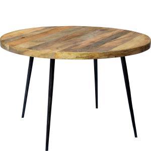 Matbord - Runt - Mango Wood - Ø120 cm - www.frokenfraken.se