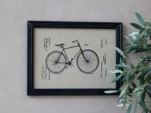 Tavla - Cykel & Svart ram - 43 x 33 cm - www.frokenfraken.se
