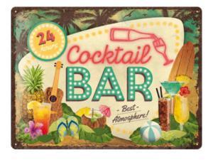 Plåtskylt - Cocktail Bar - 30 x 40 cm - www.frokenfraken.se