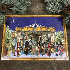 Chokladkalender - Karusell - Adventskalender - 35 x 25 cm - www.frokenfraken.se