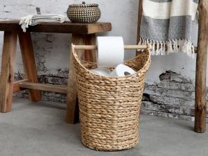 Toapappershållare - Korg med pinne för toapapper - Natur - 40 x Ø30 cm - www.frokenfraken.se