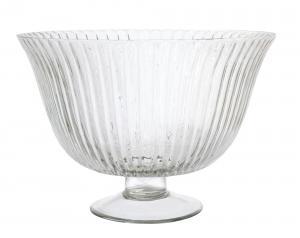 Skål - Glasskål på fot - 21 x Ø30 cm - www.frokenfraken.se