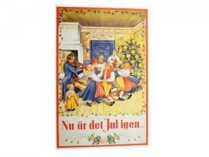 Julbonad - Nu Är Det Jul Igen - 65 x 43 cm - www.frokenfraken.se