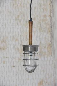 Lampa - Arbetslampa - Silver & Trä - 30 cm - www.frokenfraken.se