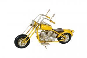 Motorcykel - Gul Metall - 20 x 7 x 13 cm - www.frokenfraken.se