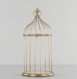 Alot Fågelbur Guld - Ampel/Ljuslykta - 46 cm