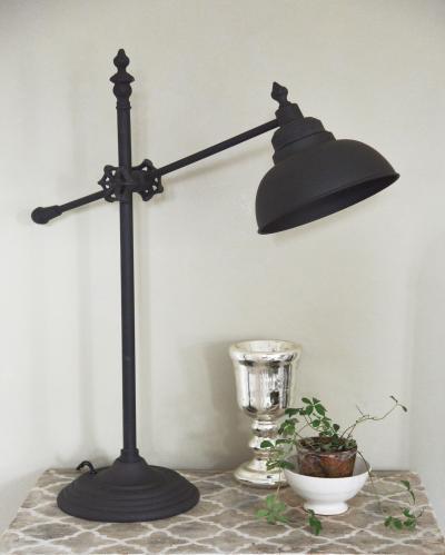 Vägglampa Rustik lampa i svart metall från Jeanne d´Arc