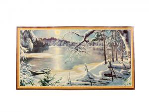 Julbonad - Vinterlandskap med is - 42 x 23 cm - www.frokenfraken.se