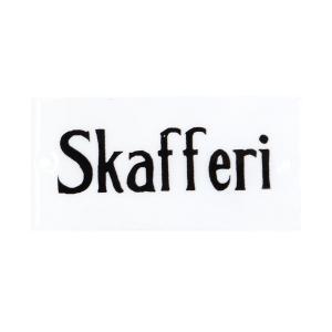 """Emaljskylt - """"Skafferi"""" - 4,5 x 9 cm - www.frokenfraken.se"""