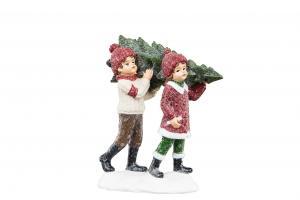 Julpynt - Barnen hämtar Granen -14 cm - www.frokenfraken.se