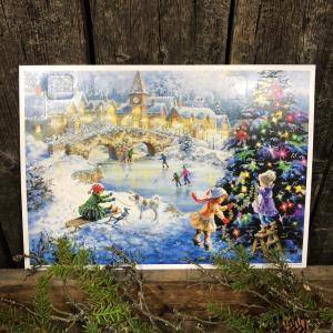 Adventskalender - Frusen sjö - A4 - 29,7 x 21 cm - www.frokenfraken.se