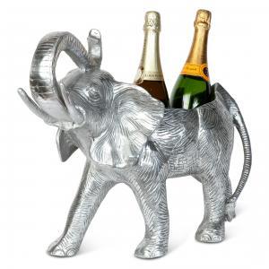 Champangeskål - Elefant med plats för 2 flaskor - www.frokenfraken.se