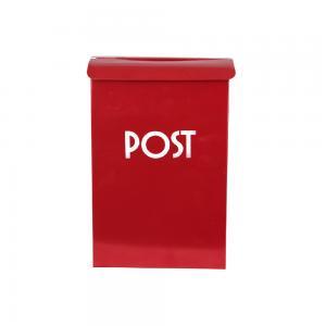 Postlåda Röd - 17 x 7 x 25 - www.frokenfraken.se