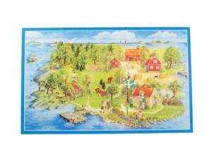 Bonad - sommar ö - 69 x 43 cm - www.frokenfraken.se
