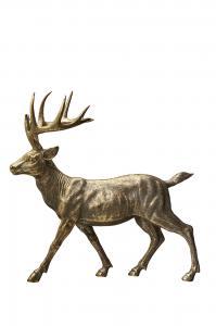Hjort - Dekoration - Guld - 39 x 18 x 39 cm - www.frokenfraken.se