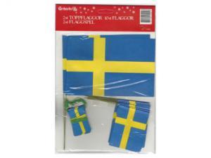 Flaggset - Svenska Flaggan - www.frokenfraken.se