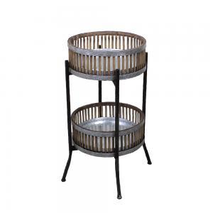 Piedestal - Zink/Bambu - 66 x Ø44 cm - www.frokenfraken.se