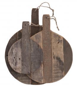 Serveringbrickor - 3 st runda - Wood Raw - www.frokenfraken.se