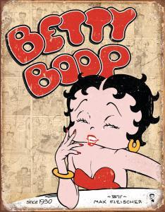 Betty Boop - Retro Metallskylt - 32 x 41 cm - www.frokenfraken.se