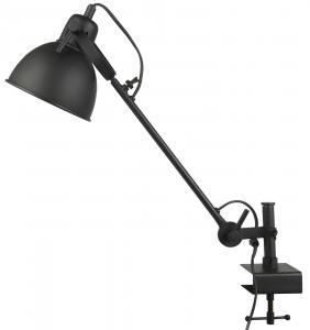 Lampa för hyllkant - Skrivbordslampsmodell - Svart - 55 x Ø15,5 cm - www.frokenfraken.se