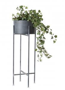 Affari Kruka på pedestal - Grå - Metall - 28 x H75 cm