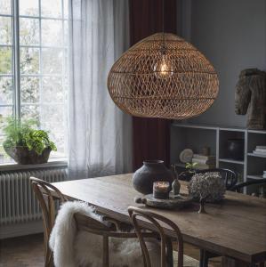 Lampa - Flätad Rotting - 50 cm - www.frokenfraken.se