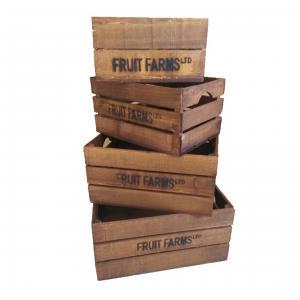 Trälåda - Fruit Crates - Brun - 4st - 39.8 x 30.2 x 13.9 cm - www.frokenfraken.se