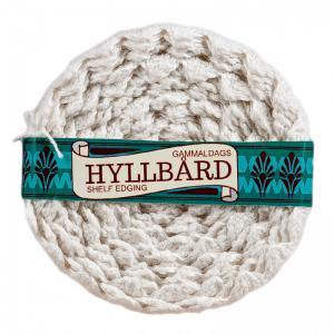 Hyllbård - Självhäftande vit virkad spets - 4,5 cm bred - www.frokenfraken.se