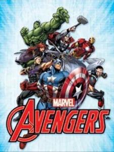Avengers Marvel - Retro Metallskylt - 32x41 cm - www.frokenfraken.se