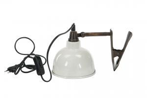 Lampa - Klämspott - Emalj Shell - 15 x 15 cm - www.frokenfraken.se