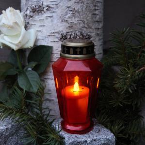 Gravljus - Batteri - Röd - 15,5 cm - www.frokenfraken.se