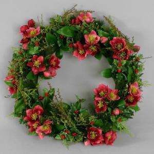 Krans - Christmas Rose - Röd - 30 cm - www.frokenfraken.se