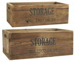 Trälådor - Storage - 2 st - 44 & 49 cm - www.frokenfraken.se