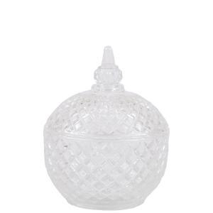 Glasburk med lock - Crystal Jar - 9,5 x 12 cm - www.frokenfraken.se