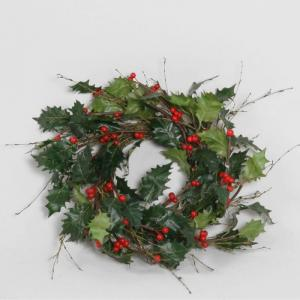 Krans - Holly Wreath - 38 cm - www.frokenfraken.se