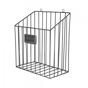 Tidningskorg - Metall Zink - 30 x 26 x 14,5 cm - www.frokenfraken.se